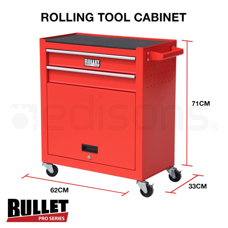 Red 622 Piece Box Chest Cabinet Tool Kit Set by Bullet Pro