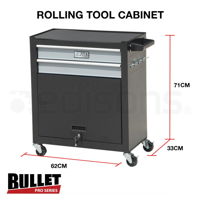 Black/Grey 622 Piece Box Chest Cabinet Tool Kit Set by Bullet Pro