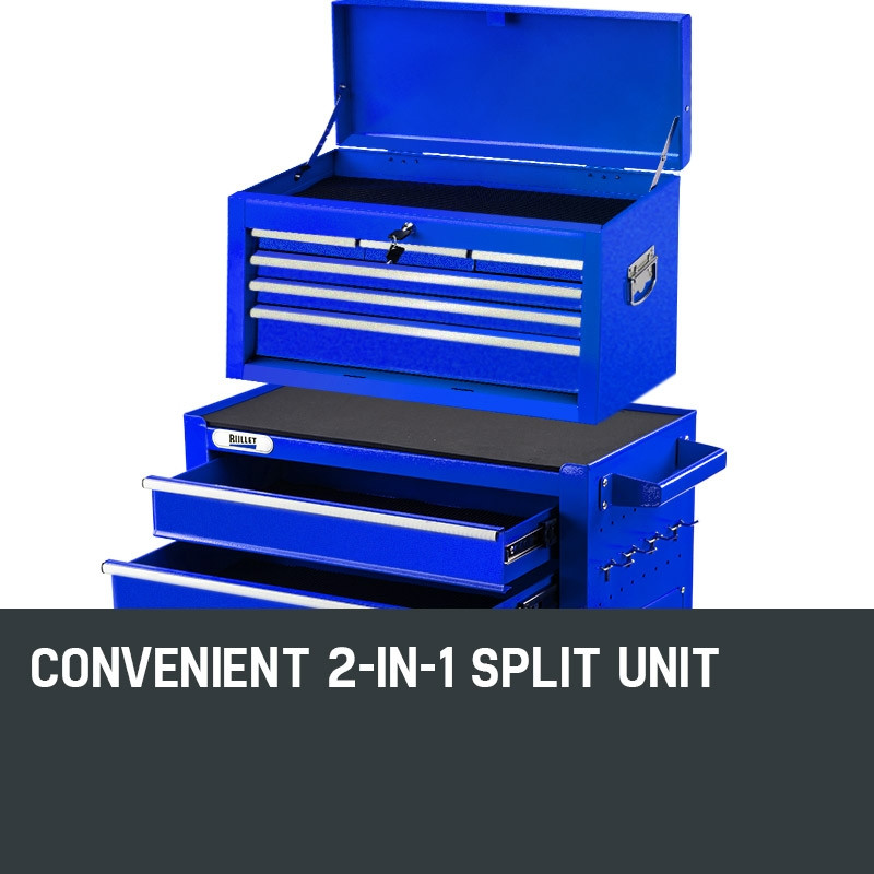BULLET 8 Drawer Tool Box Cabinet Chest Storage Toolbox Garage Organiser Set by Bullet Pro