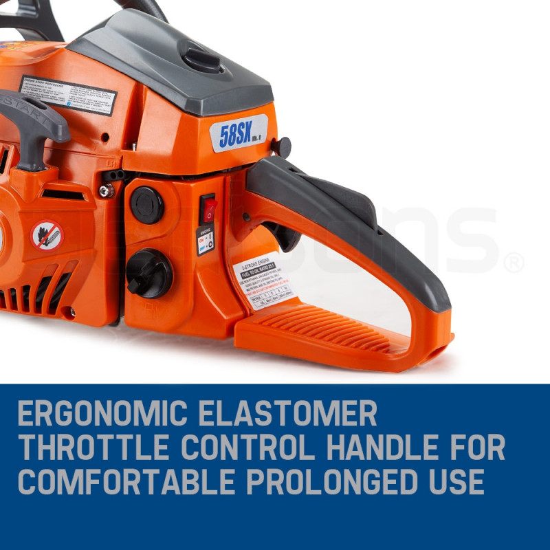 "MTM 58CC 20"" E-Start Commercial Petrol Chainsaw- 58SX Mark II by MTM"
