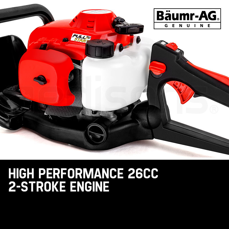 "Baumr-AG 26CC Petrol Hedge Trimmer - 2-Stroke Clipper Saw Precision 24"" Blade by Baumr-AG"