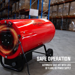 Bromic Red 50kW Heat-Flo Blow Heater - HF 50 by Bromic