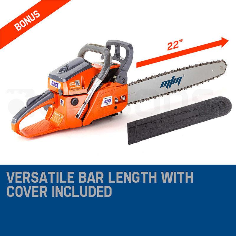 "22"" E-Start 62cc Petrol Chainsaw - 62SX by MTM"