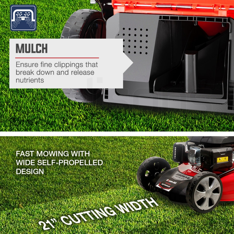 """BAUMR-AG 21"""" 248cc Self-Propelled Push Button Electric Start 4in1 Lawnmower - 890SXe by Baumr-AG"""