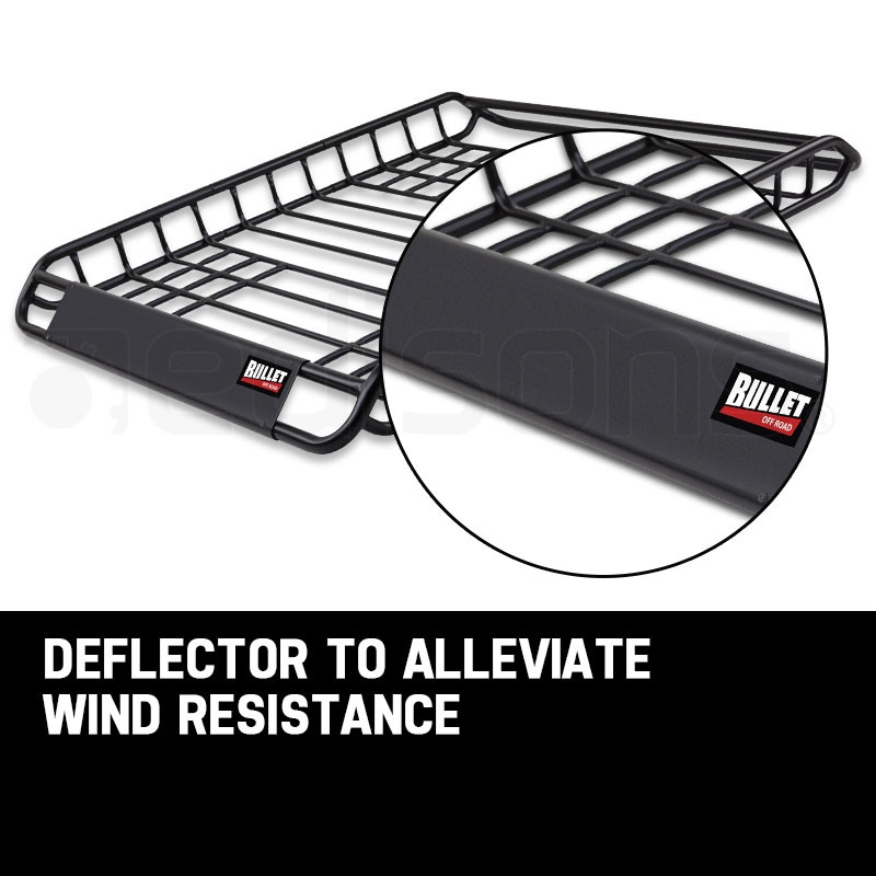 BULLET Universal Roof Rack Basket - Car Luggage Carrier Steel Cage Vehicle Cargo by Bullet Off Road