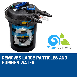 PROTEGE Aquarium External Canister Filter Aqua Fish Tank Pond Water UV Light 10000 L/H by Protege