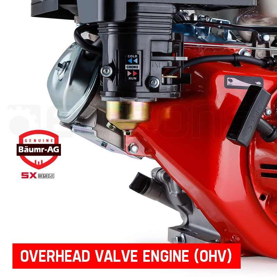 13HP Petrol Stationary Engine 4-stroke OHV Motor Horizontal Shaft Recoil Start by Baumr-AG