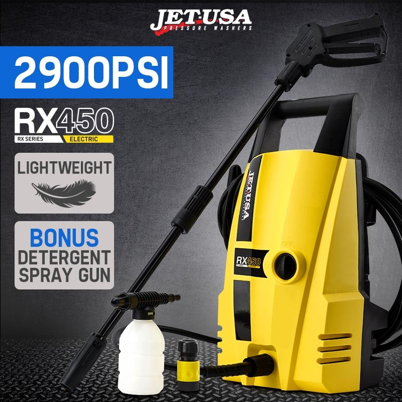 JET-USA 2900 PSI High Pressure Washer Electric Water Cleaner Gurney Pump 8M Hose by Jet-USA