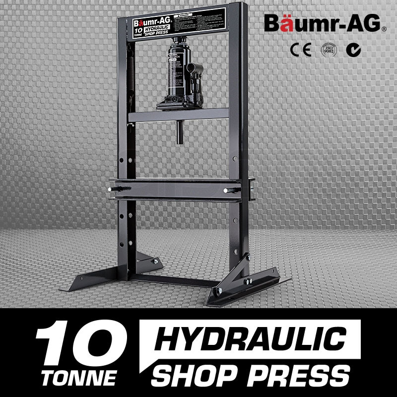 10 Tonne Hydraulic Shop Press Workshop Jack Bending Stand H-Frame by Baumr-AG