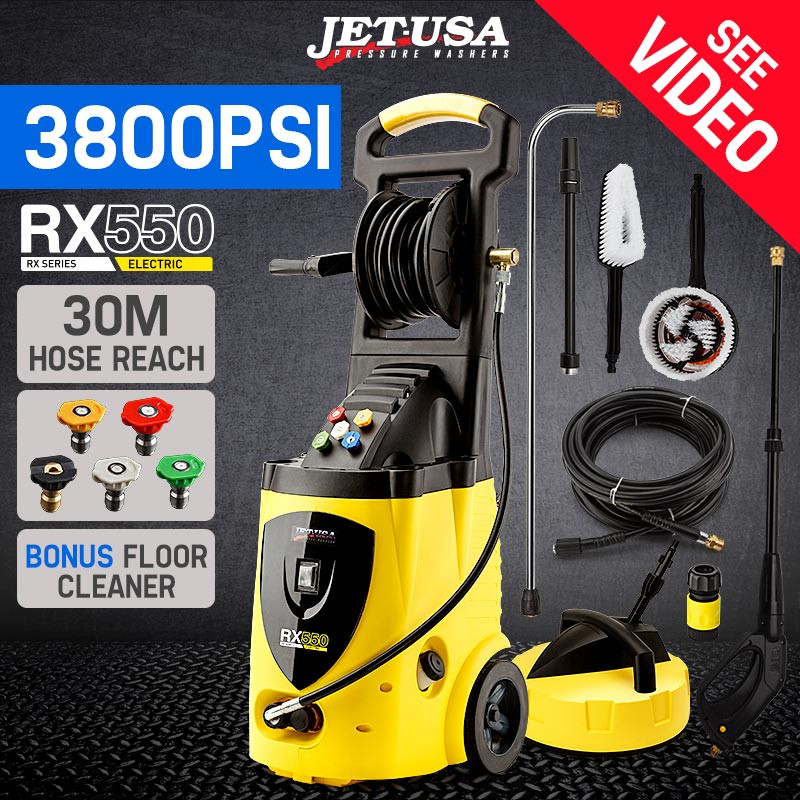 Jet-USA 3800PSI High Pressure Electric Pressure Washer - RX550 by Jet-USA