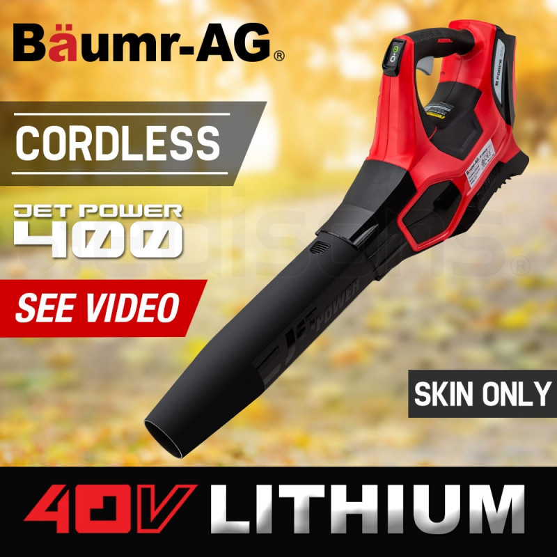 Baumr-AG Cordless Electric 40V Leaf Blower - Lithium Powered Garden Power Tool by Baumr-AG