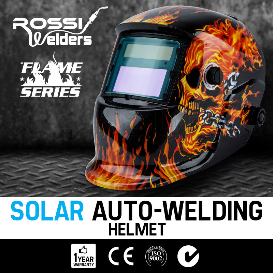 Skeleton With Gun Design Auto Darkening/solar Powered Welding Helmet Yard, Garden & Outdoor Living