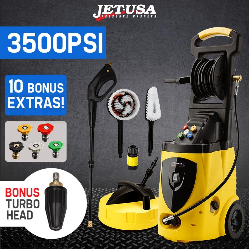 JET-USA 3500 PSI High Pressure Washer Electric Water Cleaner Gurney Pump Hose by Jet-USA