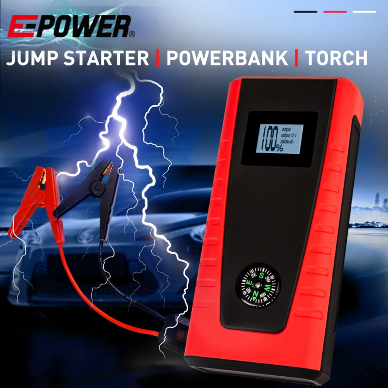 E-POWER Portable Car Vehicle Jump Starter Battery Torch Emergency Lithium 12V - PRE-ORDER - Shipping from 08/07 by E-Power