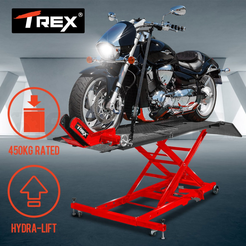 T-REX Hydraulic Motorcycle Lifter Motorbike Lift Stand Table Jack Hoist Bike