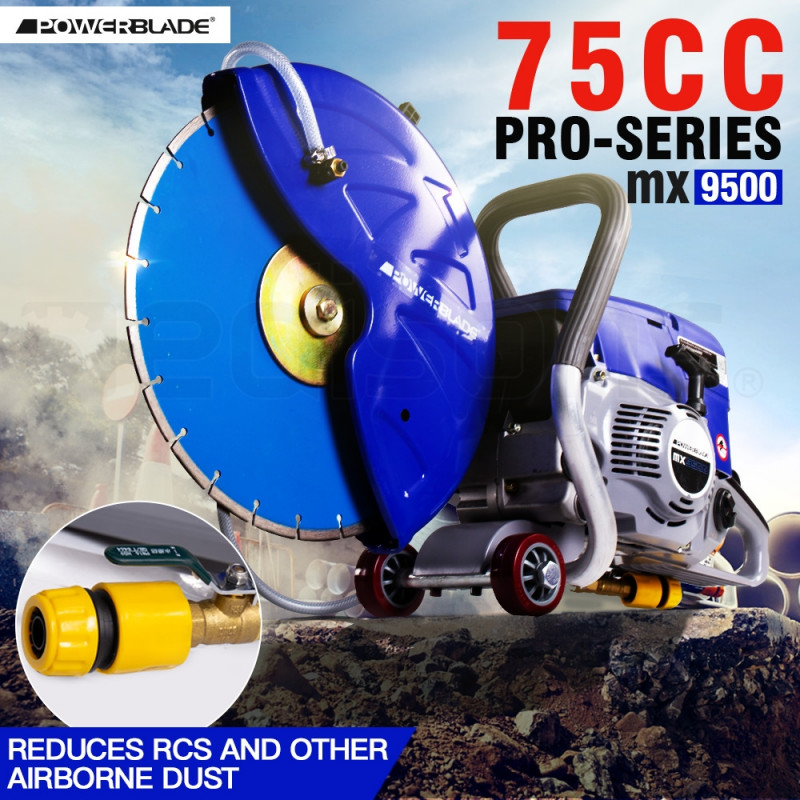 POWERBLADE MX9500 Concrete Cut Off Demolition Saw Wet Demo Road Cutter Brick by PowerBlade