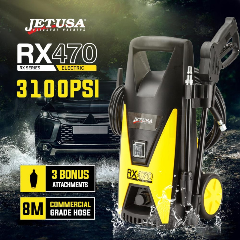 JET-USA 3100 PSI High Pressure Washer Cleaner Electric Water Gurney Pump Hose by Jet-USA