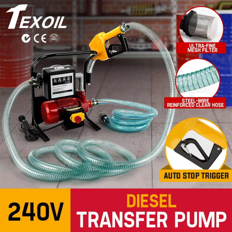 TEXOIL 240V Oil Transfer Pump Diesel Bio-diesel Commercial Fuel Electric Station by Texoil