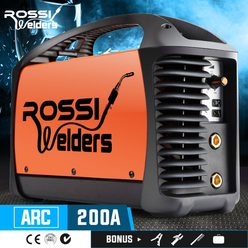 ROSSI Welder Inverter ARC 200Amp Welding Machine DC iGBT Stick Portable