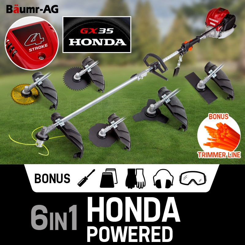 Baumr-AG 6in1 Honda Powered Multi Brush Cutter - BCX-750 by Baumr-AG