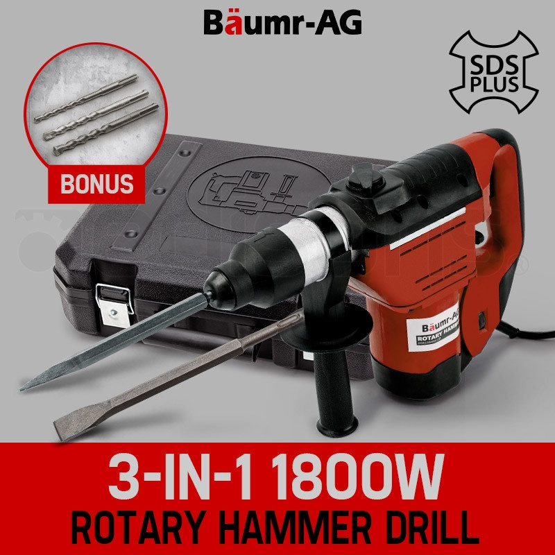 Baumr-AG 1800W Demolition Rotary Jack Hammer JackHammer Electric Concrete Drill by Baumr-AG
