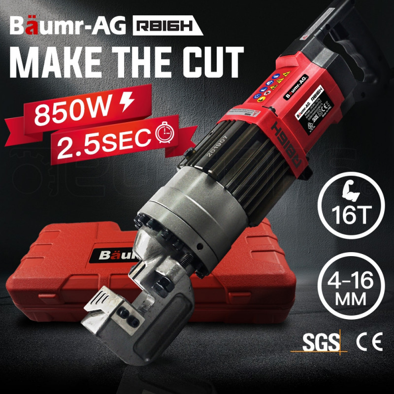BAUMR-AG Hydraulic Portable Electric Rebar Cutter 16mm 850W - RB16H by Baumr-AG