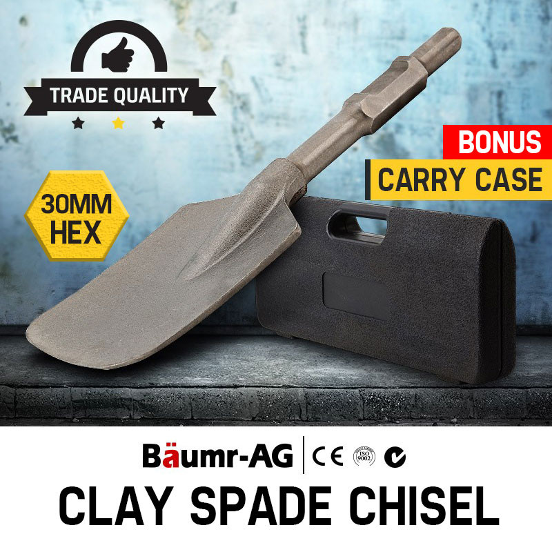 Baumr-AG JackHammer Clay Spade Chisel Extra Wide Square-Tipped Jack Hammer by Baumr-AG