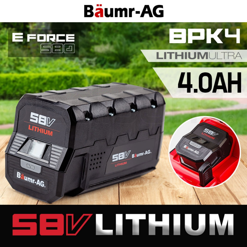 Baumr-AG 58V Lithium-Ion for E-Force 580 Lawnmower Battery Spare Replacement by Baumr-AG