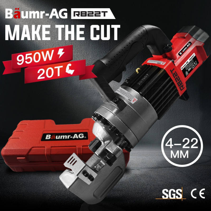 BAUMR-AG Hydraulic Portable Electric Rebar Cutter 22mm 950W - RB22T by Baumr-AG