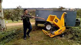 Michigan USA Ravenger, 18HP 420cc Garden Mulcher Shredder. JB